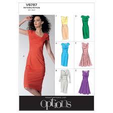 dress pattern john lewis vogue women s dresses sewing pattern 8787 at john lewis