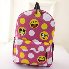 oxford smiley school bag schoolbag exo printing colorful backpack