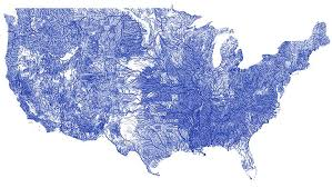 map usa all states all the rivers in the united states on a single beautiful