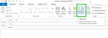 how to create an email signature in microsoft outlook 2013 tips