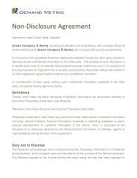 non disclosure agreement template