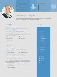 Cool Free Resume Templates Free Resume Templates Cool A Cv Photoshop Template Creative Ui