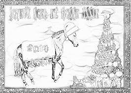 Coloriage De Noel Avec Des Chevaux  Exactjuristen