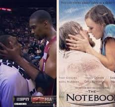 Mario Chalmers Meme - chris bosh mario chalmers vs the notebook miamiheat http