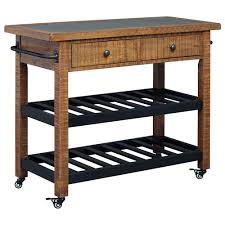 pine kitchen islands signature design by marlijo pine kitchen cart with concrete