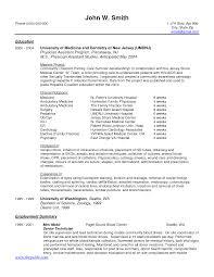 medical student resume for clinical rotations sidemcicek com