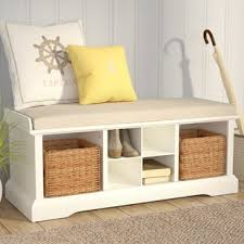 Cushioned Storage Bench Storage Benches