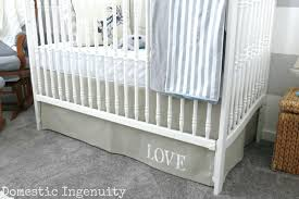 Crib Bed Skirt Diy Crib Bed Skirt Pattern Free White Canada Diy Ruffled
