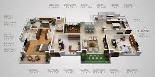 four bedroom 50 four 4 bedroom apartment house plans bedroom apartment house