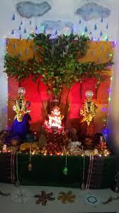 Home Decoration Of Ganesh Festival by Die Besten 25 Gauri Decoration Ideen Auf Pinterest