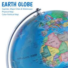 earth globe map 3 in 1 world globe led constellation map light usa toyz