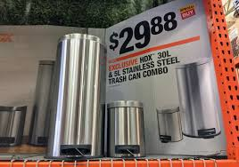 Home Depot Coupon Policy by Hdx 8 U0026 1 3 Gallon Trash Can Combo Only 29 88 At Home Depot