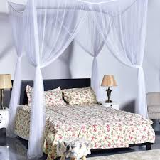 4 corner post bed canopy mosquito net full queen king size netting