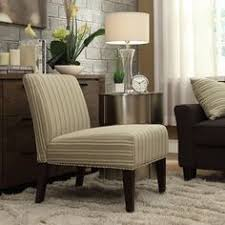 Striped Slipper Chair Inspire Q Peterson Mocha Wavy Stripe Slipper Chair Living Rooms