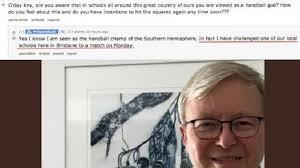 Kevin Rudd Memes - the goat rudd proves he s still king of handball fraser coast