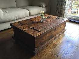 Handmade Rustic Coffee Table Made To Measure Hand Crafted Here In