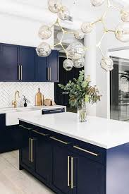 navy blue kitchen cabinets chow down spaces navy cabinets and kitchens