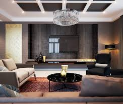 luxury living room design idea feat awesome big flat tv screen