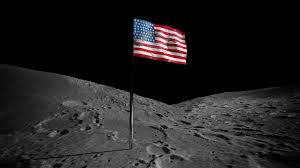 Picture Of Flag On Moon American Flag On The Moon Space View Stock Video Footage