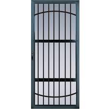 Lowes Glass Screen Doors by Shop Comfort Bilt Meridian Black Full View Aluminum Standard Half