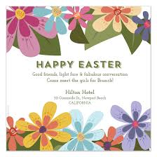 easter brunch invitations happy easter brunch blooms invitations cards on pingg