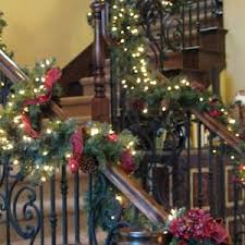 Christmas Lights For Stair Banisters Christmas Garland For Stairs Xmasdirect Co Uk