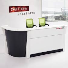 White Reception Desk High End Marble White Reception Desk Low Price Front Office Desk