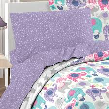 Purple Girls Bedding by Purple Pink Elephant Bedding For Girls Twin Or Full Bed In A Bag