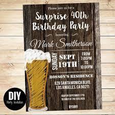 printable downloadable men u0027s surprise birthday party invitations