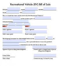 sle resume word doc format pdf free recreational vehicle rv bill of sale form pdf word