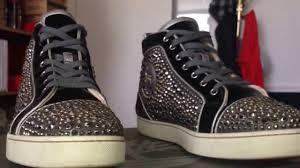 christian louboutin red bottom swarovski strass sneakers for men