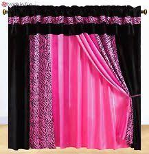 zebra window curtains ebay