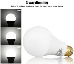 Led Light Bulbs 100w Equivalent by 3 Way Dimmable 40 60 100w Equivalent Led A21 Light Bulb 2700k