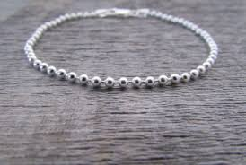 silver bead chain bracelet images Sterling silver ball chain bracelet 7 inch chain 2mm chain jpg
