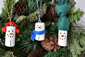 diy wine cork snowman tree ornaments