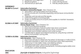 Vet Tech Resume Samples by Auto Tech Resume Sample Reentrycorps
