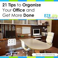 how to organize your office desk office