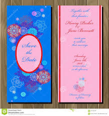 Invitation Card Marriage Winter Snowflakes Design Wedding Invitation Card Wedding Vector