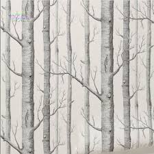 compare prices on birch wall sticker online shopping buy low birch tree woods modern wall stickers plain forest design black white wall paper for living room