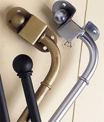 Swing Arm Curtain Rod Hinged Curtain Rod For Doors Curtain Gallery Images Inquietudes Me