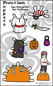 Free Printable Halloween Paper by Poppet Pirate Printable Paper Doll U2022 Paper Thin Personas