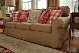 Slipcovered Sectional Sofa by Furniture Comfy Loveseat Pottery Barn Sofa Slipcovers Ikea