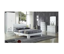 arden white high gloss double bed frame paradise furniture beds