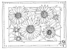 sunflower garden coloring page sunflower garden coloring page