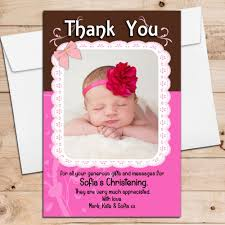 baby thank you cards 10 personalised christening birthday new baby thank you cards n197