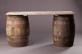 whiskey barrel bar table wedding