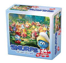 smurfs lost village 2 children u0027s puzzles puzzlewarehouse