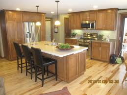 amazing brown mosaic granite tops kitchen island with seating of
