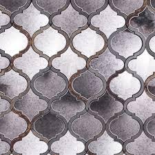 veranda paris gray quartz u0026 mirror tile arabesque tile shop by
