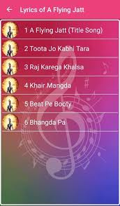 a flying jatt songs lyrics 1 3 apk android
